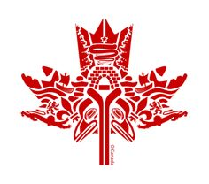 Beautiful First Nations Canadian maple leaf art. Canadian Things, Canadian Art, Native Canadian, Canadian History, Canada Day Party, Alaska, Canadian Maple Leaf, You Are Art, Happy Canada Day
