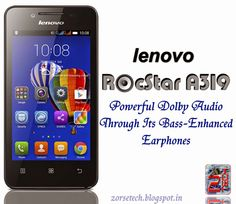 Lenovo RocStar A319 affordable music lovers smartphone
