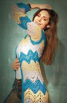 Crochet Cardigan - Free Crochet Diagram - (nenocaejorge.blogspot)