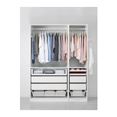 IKEA - PAX, Wardrobe, cm, replace bottom wire baskets with drawers for Amita + make it 236 cm high Pax Closet, Ikea Pax Wardrobe, Diy Wardrobe, Wardrobe Storage, Bedroom Wardrobe, Wardrobe Design, Armoire Pax, Ikea 2015, Soft Closing Hinges