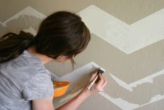 Easiest instructions yet for painting chevron stripes!