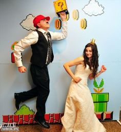 Super Mario Wedding Photo booth