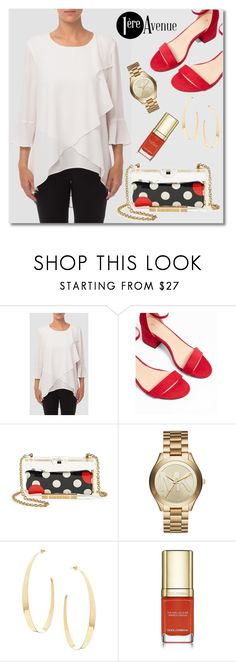 """Untitled #3350"" by deeyanago ❤ liked on Polyvore featuring Joseph Ribkoff, Express, RED Valentino, Michael Kors, Lana and Dolce&Gabbana"