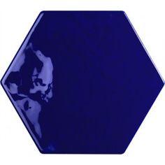 Norfloor: Exabright+Esagona+Blu. Fantastisk farge til fondvegg.