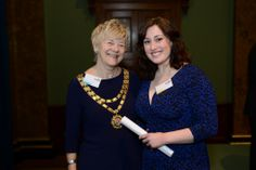 Prof. Lesley Page and Suzie Smyth, our runner up in the Outstanding Student Midwife Category