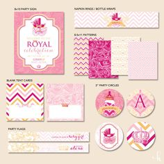 - Tiny Princess - PRINTABLE Party Collection (Pink). $22.00, via Etsy.