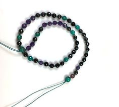 Malas are Buddhist prayer beads used for meditation. Traditionally 108 beads are strung and hand knotted in between each bead. Mala Bracelet Diy, Bracelets, Necklaces, Diy Tassel, Tassels, Buddhist Prayer, Prayer Beads, Beaded Necklace, Jewels