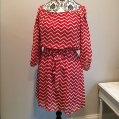 Adorable Red Chevron Dress by Speechless Adorable Red Chevron Dress by Speechless. Worn once. Size M. Speechless Dresses Midi