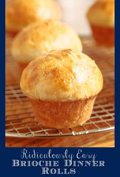 These Ridiculously Easy Brioche Dinner Rolls almost make themselves! There's 15-minutes light labor on your part (no-mixer, no-kneading!) then the yeast and oven work the crazy delicious magic! #easydinnerrolls, #easybriocherolls, #bestdinnerrolls via @cafesucrefarine Artisan Rolls, Brioche Rolls, Instant Yeast, Bread Rolls, Dinner Rolls, How To Make Bread, Us Foods, Bread Recipes, Pastries Recipes