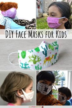 Find all sorts of popular styles in this new collection of 10 DIY Face Masks for Kids. Sewing Tips, Sewing Tutorials, Sewing Hacks, Sewing Patterns, Sewing Projects For Kids, Sewing For Kids, Diy Mask, Diy Face Mask, Face Masks For Kids