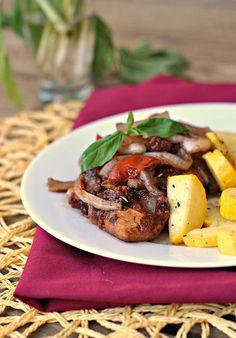 Braised Balsamic Chicken ...a 250 calories dinner winner!