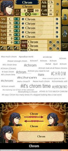 "Chrom - Fire Emblem: Awakening. ""Time to Chrom. It's Chrom Time."""