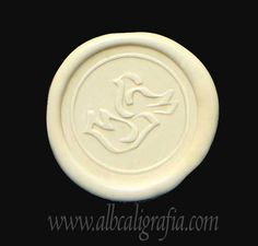 Ivory sealing wax with doves seal