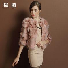 2014 new fur coat fox fur short paragraph seamless special clearance USD$274.75