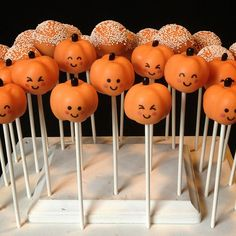 12 Cute Ghost & Pumpkin Cake Pops for Halloween by SweetWhimsyShop