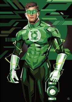 Hal Jordan Green Lantern by Tadaomi Shibuya Green Lantern Corps, Green Lantern Hal Jordan, Green Lanterns, Comic Book Characters, Comic Character, Comic Books Art, Comic Art, Superman, Batman