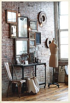 I'm so in love with anything industrial that stays away from the lofty/minimalist look.