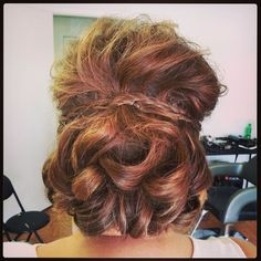 mother of the bride short textured updo with braids - Think my hair is too thin for this style