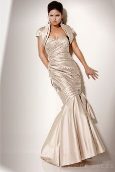 Glamour A-line Sweetheart Beading Side Draped Mothers Dress at Storedress.com