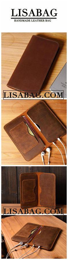 Handmade iPhone 6/6s/6Plus/7/7Plus Wallet Case Leather Wallets MT07