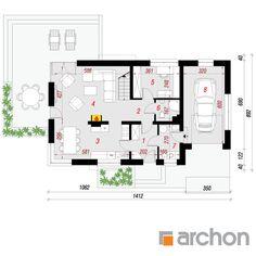 projekt Dom w amarylisach 3 rzut parteru