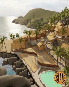 Bathe under the sun in this amazing resort in Thailand with beautiful views of the sea! Bamboo House Design, Thai House, Koh Phangan, How To Buy Land, Architecture Plan, Land For Sale, Luxury Villa, Condominium, Beach Resorts