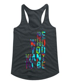 Take a look at this American Classics Heather Dark Gray 'Be You' Tri-Blend Racerback Tank today!