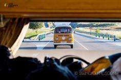 rear view VW Campervan bus.
