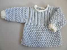 tuto - Layette tricot bb fait main, modèle tricot bebe Baby Knitting, Crochet Baby, Knit Crochet, Knitted Baby, Baby Set, Cardigan Bebe, Pullover, Etsy, Sweaters