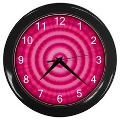 Red Onion Slice Plastic Black Frame Battery Operated Novelty Kitchen Wall Clock #CustomMade #Novelty