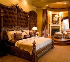 Dallas Residential Interior Design, Really Nice but the tufted panel behind the bed is too tall, other than that Beautiful