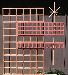 Mid Century Modern Marque Screen/Trellis by MidCenturyWoodShop Privacy Planter, Deck Planters, Window Planter Boxes, Modern Planters, Outdoor Privacy, Privacy Screens, Outdoor Picnic Tables, Kids Picnic Table, Outdoor Rooms