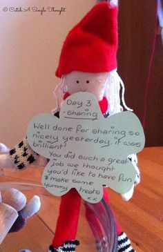 Kindness Elves: Days 2 & 3 - Catch A Single Thought Advent Ideas, Elf Ideas, Christmas Ideas, Christmas Decorations, Kindness For Kids, Kindness Elves, Holiday Crafts, Holiday Fun, Festive