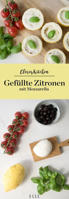 Für den Grillabend oder als Appetizer – der Geschmack von Zitronen gibt sofort ein herrliches Frischegefühl ab. Kombiniert mit Tomaten, Oliven und Mozzarella macht die kleine Vorspeise nicht nur optisch etwas her, sondern überrascht mit herrlichem Geschmack. Das Rezept gibt's auf ELLE.de! #recipe #rezept #food #grillen #bbq #ernährung #sommer #trending #lifestyle