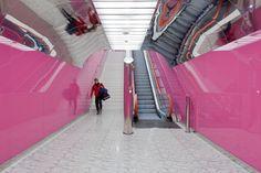 Naples Subway Station designed by Karim Rashid 2004 - completed 2010 Art Station, Metro Station, Train Station, Naples Metro, Metro Rail, Ios, Karim Rashid, Concept Architecture, University