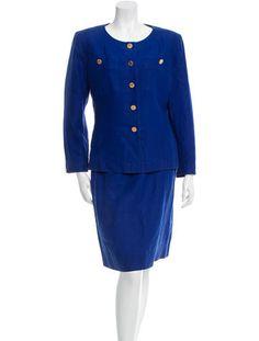 Chanel Linen Knee-Length Skirt Suit