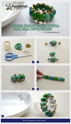 Wooden Jewelry Making Tutorial - Basic Bead Crafts for Kids from pandahall.com