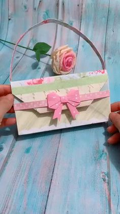 Diy Crafts Hacks, Diy Crafts For Gifts, Diy Arts And Crafts, Creative Crafts, Cool Paper Crafts, Paper Crafts Origami, Fun Crafts, Crafts For Kids, Diy Paper Purses