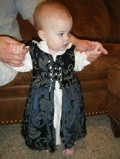 Blue baby girl renaissance fair costume dress