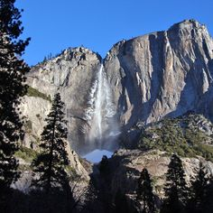 Upper Yosemite Falls   I hiked to the top of this Falls with Jake in December!  It was EPIC!