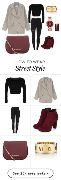 """""""Street Style"""" by irenelluchricart on Polyvore featuring Acne Studios, MICHAEL Michael Kors, Tiffany & Co., Michael Kors and Eddie Borgo"""