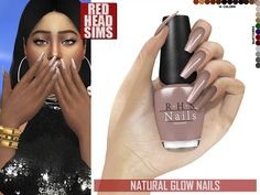 The Sims 4 cc Natural Glow nails The Sims 4 Skin, The Sims 4 Pc, Sims Four, Sims Cc, Sims 4 Mods Clothes, Sims 4 Clothing, Sims 4 Nails, The Sims 4 Cabelos, Sims 4 Game Mods
