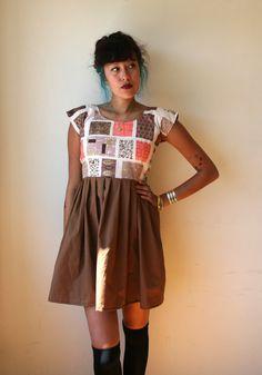 Geometric Print Mid Century Dress Sz XS S M L by rustycuts on Etsy, $72.00
