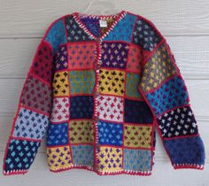 Hand Knit Sweater from Ecuador. Fond memories of the marketplace.