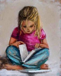 Maureen O'Mahony born 1963 in Ireland - children reading Girl Reading Book, Reading Art, Woman Reading, Kids Reading, Reading Books, Illustrations, Illustration Art, Irish Art, Love Book