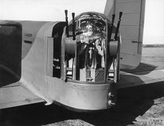 The Nash and Thompson Type FN4 rear turret of an Armstrong Whitworth Whitley Mark V of No.102 Squadron RAF at Driffield, Yorkshire, 8 March 1940. Ww2 Aircraft, Military Aircraft, Westland Whirlwind, Ac 130, Lancaster Bomber, Royal Air Force, D Day, Troops, Wwii