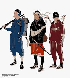 Some outfits inspiration for your pleasure :). No katanas today. Which one do you like more? Dope Cartoon Art, Dope Cartoons, Character Concept, Character Art, Concept Art, Japanese Gangster, Urban Samurai, Laser Tag, Samurai Artwork