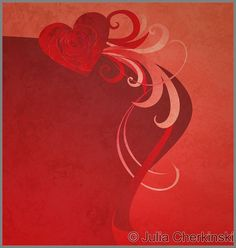 red heart with red rose grunge abstract background for love and wedding neeeds     http://www.tpt-fonts4teachers.blogspot.com/2013/01/san-valentines-day-free-clip-arts.html