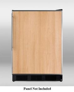 """Summit BI541B 24"""" 5.1 cu.ft. Built-in Capable Cycle Defrost Compact Refrigerator-Freezer with Zero Degree Freezer Cycle Defrost Dual Evaporator and Adjustable Thermostat: Panel"""