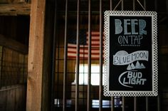 Custom Wedding Signs Bar Chalkboard Barn by MySteelMagnolia